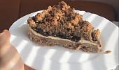 Celozrnný koláč s tvarohem a povidly