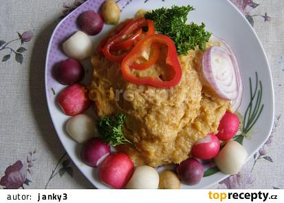 Pyré z květáku, mrkve a brambor
