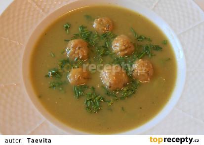 Brokolicová polévka s drožďovými knedlíčky  (Dělená strava podle LK - Kytičky + zelenina)