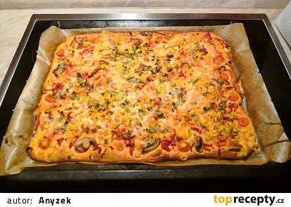 Rychlá levná buchto - pizza