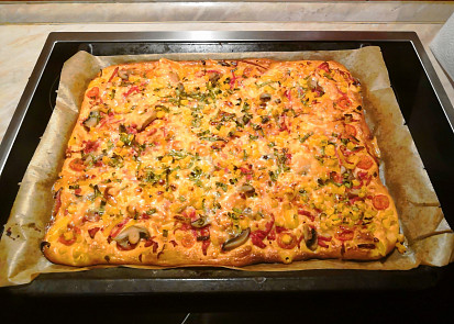 Hotová Buchto-Pizza