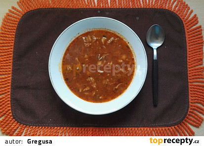 Držťková polévka z předvařených držťek I.