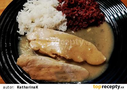 Krůtí prso na hořčici s rýží
