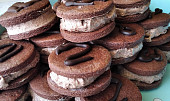 Kakaové sušenky s krémem