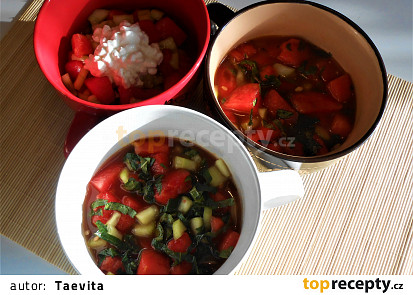 Melounový salát (Dělená strava podle LK - Kytky i Zvířata)