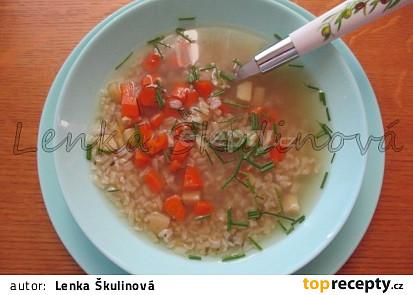 Zeleninový vývar s rýží