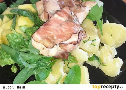 Kuřecí balíčky s bylinkami ve slanině s javorovou glazurou