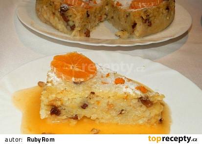 Rýžový nákyp s pomerančovou omáčkou