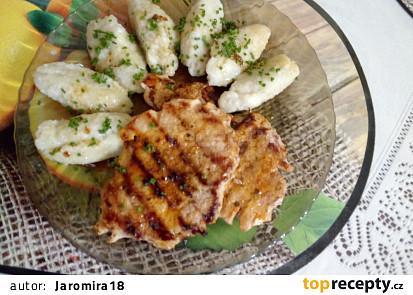 Bramborovo-cuketové chlupaté knedlíky