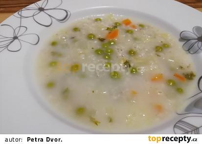 Zeleninová kroupová polévka