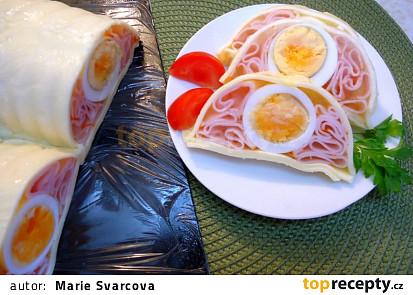 Aspikový hřbet se sýrem, šunkou a vejci