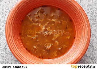 Polévka z kotrče (falešná dršťková)