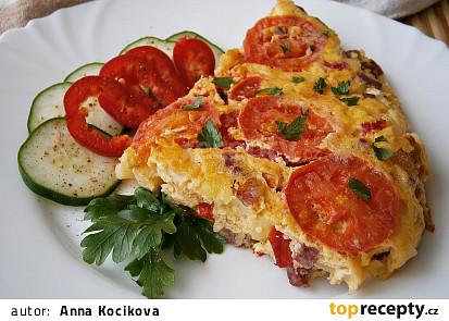 Selská omeleta s rajčaty