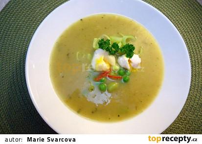 Pórková polévka s křepelčími vajíčky
