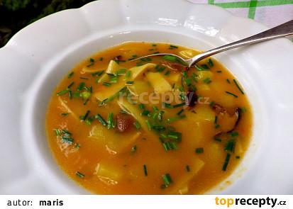 Selská houbová polévka