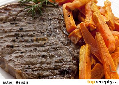 Steak s tuřínovými hranolky a salátem z pomeranče a fenyklu podle The 1:1 Diet