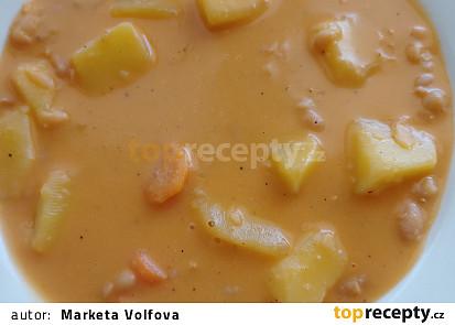 Fazolová polévka s bramborem a mrkví