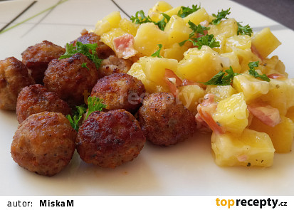 Šlehačkové brambory na tymiánu a slanině